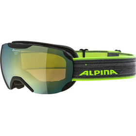 Alpina Pheos S MM Goggles black matt gold spherical
